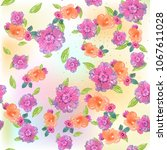 watercolor natural seamless... | Shutterstock . vector #1067611028