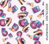 watercolor beautiful pattern... | Shutterstock . vector #1067611034