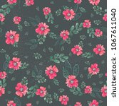 watercolor natural seamless... | Shutterstock . vector #1067611040