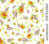 watercolor natural seamless... | Shutterstock . vector #1067611064