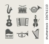 musical instruments set of...