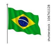 flag of brazil  vector...