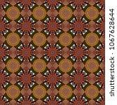 ethnic doodle texture. mehndi... | Shutterstock .eps vector #1067628644