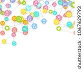 social media marketing ... | Shutterstock .eps vector #1067629793