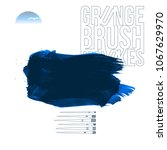 blue brush stroke and texture.... | Shutterstock .eps vector #1067629970