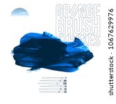 blue brush stroke and texture.... | Shutterstock .eps vector #1067629976
