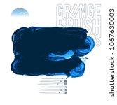 blue brush stroke and texture....   Shutterstock .eps vector #1067630003