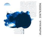 blue brush stroke and texture.... | Shutterstock .eps vector #1067630006