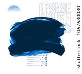 blue brush stroke and texture....   Shutterstock .eps vector #1067630030