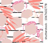 tropical  stripe  animal motif. ... | Shutterstock .eps vector #1067632778