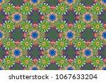 small floral pattern in purple  ... | Shutterstock . vector #1067633204