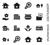 flat vector icon set   house... | Shutterstock .eps vector #1067636609