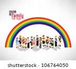 conceptual pixel people family... | Shutterstock .eps vector #106764050