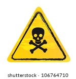 yellow danger sign isolated... | Shutterstock .eps vector #106764710