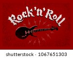 rock and roll lettering....   Shutterstock .eps vector #1067651303
