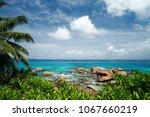 great scenery of la digue in... | Shutterstock . vector #1067660219