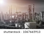 gas distillation tower and... | Shutterstock . vector #1067665913
