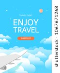 flat vector web banner on the... | Shutterstock .eps vector #1067671268