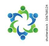vector business meeting 6 | Shutterstock .eps vector #106768124
