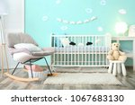modern baby room interior with... | Shutterstock . vector #1067683130