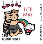 stop homophobia  a print with... | Shutterstock .eps vector #1067683376