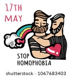 stop homophobia  a print with... | Shutterstock .eps vector #1067683403