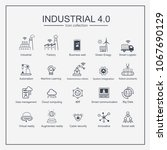 industry 4.0 and smart... | Shutterstock .eps vector #1067690129