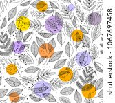 natural seamless pattern with...   Shutterstock . vector #1067697458