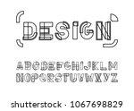 modern linear font   Shutterstock .eps vector #1067698829