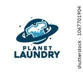 laundry logo design   Shutterstock .eps vector #1067701904