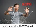 rgpd  spanish  french and... | Shutterstock . vector #1067706644