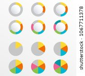 pie chart with 6 slice  section ... | Shutterstock .eps vector #1067711378