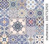 vector set of tiles background... | Shutterstock .eps vector #1067712923