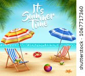 summer holidays background.... | Shutterstock .eps vector #1067717360