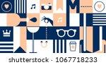 female vector illustration with ... | Shutterstock .eps vector #1067718233