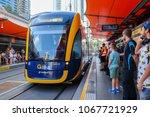 the light rail g link picking...   Shutterstock . vector #1067721929