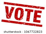 square grunge red vote stamp | Shutterstock .eps vector #1067722823