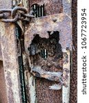 Small photo of Old lock corroded by the marine climate