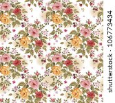 bright floral seamless on white ... | Shutterstock .eps vector #106773434