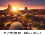 monument valley at sunrise | Shutterstock . vector #1067740736