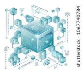industry 4.0 and smart...   Shutterstock .eps vector #1067740784