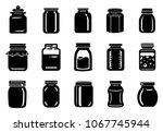 jar glass for jam or honey... | Shutterstock .eps vector #1067745944