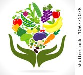 fresh fruits and vegetables  ... | Shutterstock .eps vector #106775078