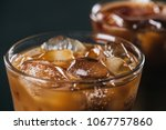 close up view of ice cubes in... | Shutterstock . vector #1067757860