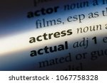actress word in a dictionary.... | Shutterstock . vector #1067758328