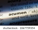 Small photo of acumen word in a dictionary. acumen concept.
