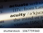 Small photo of acuity word in a dictionary. acuity concept.