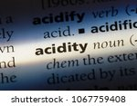 Small photo of acidity word in a dictionary. acidity concept.