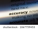 accuracy word in a dictionary.... | Shutterstock . vector #1067759453