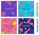 memphis style cover set. banner ... | Shutterstock .eps vector #1067761976